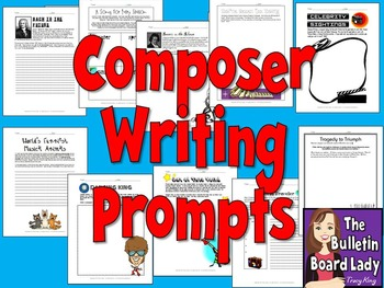 Composer Writing Prompts- Writing Prompts with a Music Theme