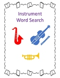 Composer and Instrument Word Search