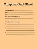 Composer fact sheet