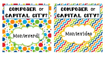 Composer or Capital City Game