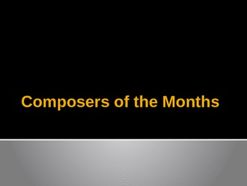 Composer of the Month