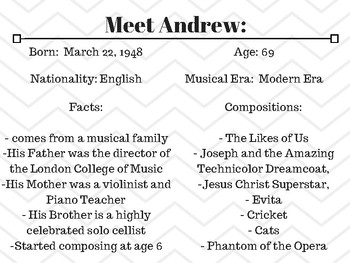Composer of the Month - Andrew Lloyd Webber