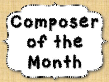 Composer of the Month {Basics Set}