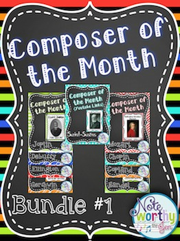 Composer of the Month Bulletin Board Bundle 1 {Youtube Links}