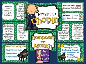 Composer of the Month Frederic Chopin-Bulletin Board and W