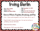 Composer of the Month: IRVING BERLIN - Lesson Plans & Bull