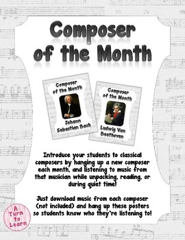 Composer of the Month! Introduce Your Students to Classical Composers!
