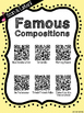 Composer of the Month Johann Strauss II Bulletin Board & QR Listening Codes