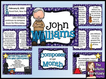 Composer of the Month John Williams -Bulletin Board and Wr