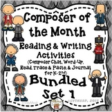Composer of the Month Reading & Writing Activities (Bundled Set 1)