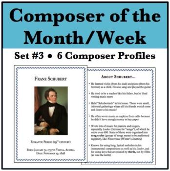 Composer of the Month - Schoenberg, Schubert, Verdi, Barber, Schumann, Haydn