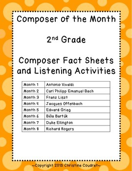 Composer of the Month Yearlong Unit- 2nd Grade