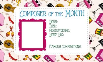 Composer of the Quarter/Month