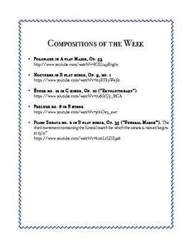 Composer of the Week Bundle - Chopin, Mozart, Beethoven, Debussy, Wagner, Handel