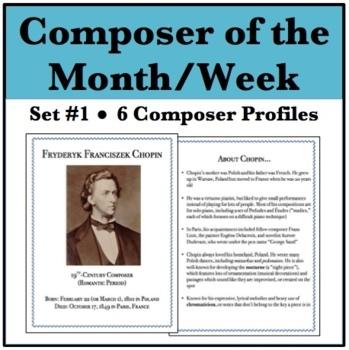 Composer of the Week Bundle - Chopin, Mozart, Beethoven, D