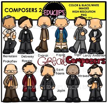 Composers 2 Clip Art Bundle {Edculips Clipart}