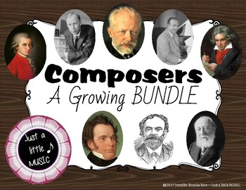 Composers - A Growing BUNDLE of composer biographies with audio