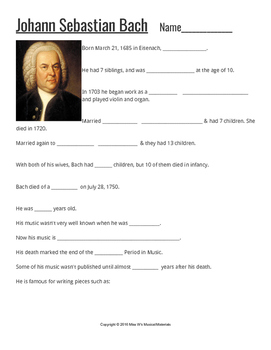 Composers: Bach