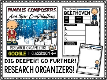 Composers Biography Report & Informational Writing: Google Classroom
