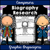 Composers - Biography Research Graphic Organizers