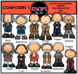 Composers 1 Clip Art Bundle  {Educlips Clipart}
