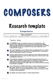 Composers Research Poster