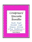 Composers' Specials Bundle ~ Bach Bizet Handel Liszt Rossi