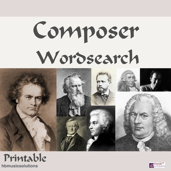 Composers Wordsearch
