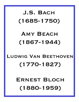 Composers from A to Z