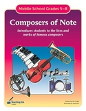 Composers of Note (Grades 5-8) by Teaching Ink
