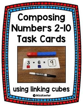 Composing #2-10 Task Cards using cubes