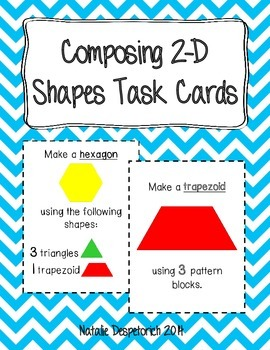 Composing 2-D Shapes Task Cards