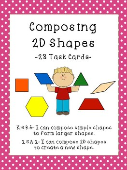 composing 2d shapes task cards by kindergarten jungle tpt. Black Bedroom Furniture Sets. Home Design Ideas