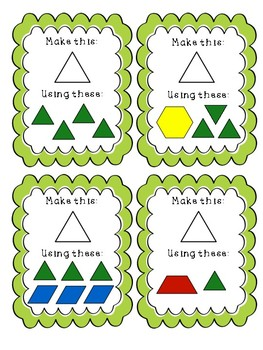 Composing 2D Shapes Task Cards