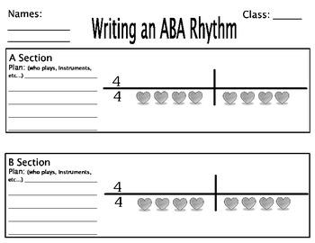 Composing ABA rhythms