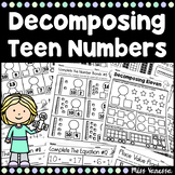 Decomposing Teen Numbers Worksheets Distance Learning