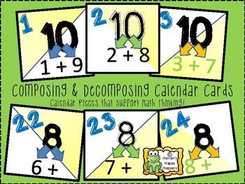 Calendar Date Cards - Composing