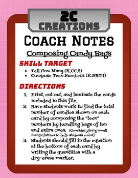 Composing Candy Bags (Teen Numbers)