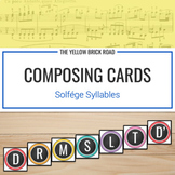 Composing Cards for Voice or pitched percussion (freebie)