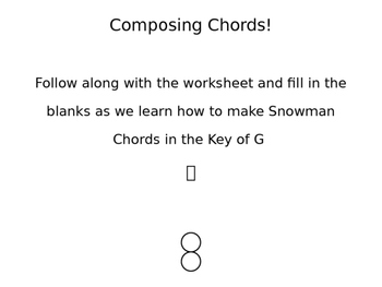 Composing Chords for Beginners in the Key of G