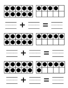 Composing & Decomposing Addition Task Cards (11-19)