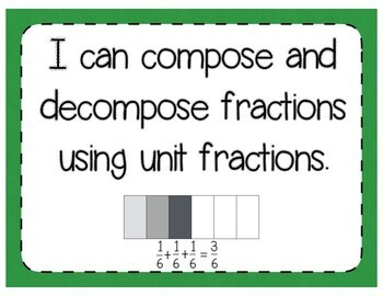 Composing & Decomposing Fractions Interactive Notebook & Quick Check TEKS 3.3D