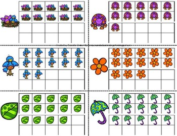 Composing & Decomposing Numbers 11-20 Game/Center Pack!  Spring Theme Set of 3