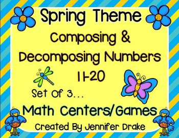 Composing & Decomposing Numbers 11-20 Game/Center Pack!  S
