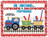 Composing & Decomposing Numbers 11-20 ~Train Version~ Supports Common Core!