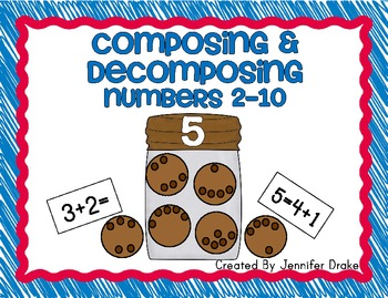 Composing & Decomposing Numbers 2-10 ~Cookie Jar Version~ Supports CC Standards!