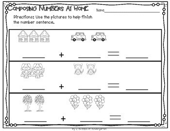 Composing & Decomposing Numbers 2-10 ~ Number bonds~ number stories~ pictures