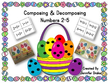 Composing & Decomposing Numbers 2-5; Easter Egg Version ~C