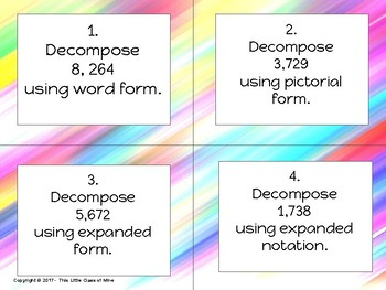 Composing & Decomposing Numbers Task Cards-