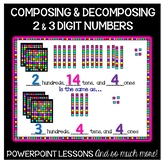 Composing & Decomposing BIG Numbers PowerPoint Teaching Kit - 2nd Grade